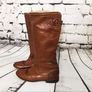 FRYE Dark Tan Pull On Boots size 8.5